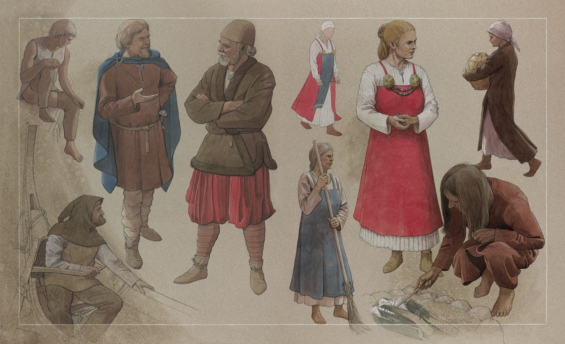 Mandsdragter og kvindedragter – Männerkleidung und Frauenkleidung – Man dress and woman dress